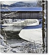 Winter Scene In Montgomery Acrylic Print