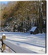 Winter Shack Acrylic Print