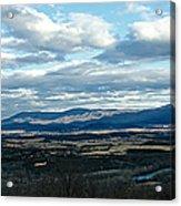 Winter Shenandoah River View Acrylic Print by Lara Ellis