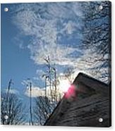 Winter Sky On Midday Acrylic Print