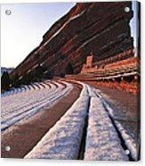 Winter Snow At Red Rocks Amphitheater Acrylic Print