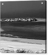 Winter Snow Over The Chesapeake Acrylic Print