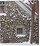 Winter Stone Pattern Acrylic Print