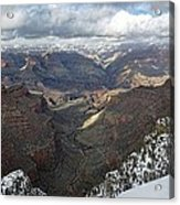 Winter Storm At The Grand Canyon Acrylic Print