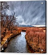 Winter Storm Over Owens River Acrylic Print