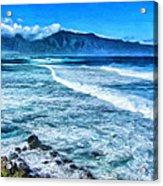 Winter Storm Surf At Ho'okipa Maui Acrylic Print