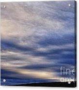 Winter Stormy Sky Acrylic Print
