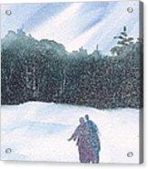 Winter Stroll Series Acrylic Print
