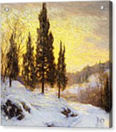 Winter Sundown Acrylic Print