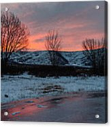 Winter Sunrise Acrylic Print by Chad Dutson