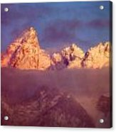 1m9333-winter Sunrise On Teton Range Acrylic Print