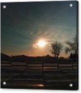 Winter Sunrise On The Farm 02 Acrylic Print