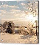 Winter Sunrise Panorama Acrylic Print