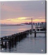 Winter Sunset Freeport Acrylic Print
