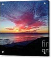 Winter Sunset Acrylic Print