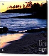 Winter Sunset In Laguna Beach II Acrylic Print