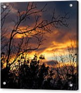 Winter Sunset In The Rogue Valley Acrylic Print