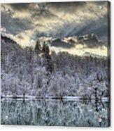 Winter Sunset Acrylic Print by Ivan Slosar