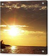 Winter Sunset Over Long Island Acrylic Print