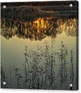 Winter Sunset Reflection Acrylic Print