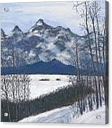 Winter Tetons Acrylic Print