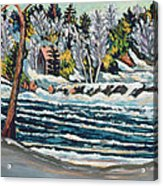 Winter Thaw Gatineau River Acrylic Print by Patricia Eyre