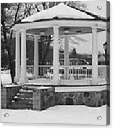 Winter Time Gazebo Acrylic Print