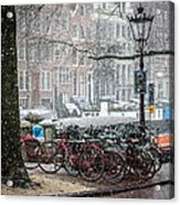 Winter Time In Amsterdam Acrylic Print