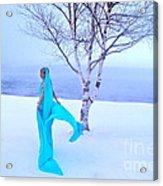 Winter Tree Empress Acrylic Print