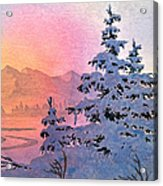 Winter Twilight Acrylic Print