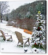 Winter Valley Chairs 2 Acrylic Print