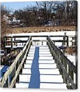 Winter Walkway Acrylic Print