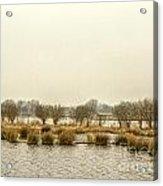 Winter Water Landscape Acrylic Print