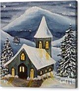 Winter Watercolor Acrylic Print