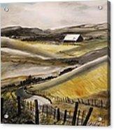 Winter Wheat Acrylic Print