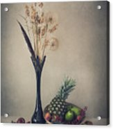 Winter With Fruits Acrylic Print
