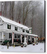 Winter Wonderland At The Valley Green Inn Acrylic Print