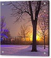 Winter Wonderland - Holiday Square - Casper Wyoming Acrylic Print