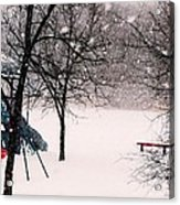 Winter Wonderland In Park Acrylic Print
