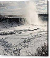 Winter Wonderland - Spectacular Niagara Falls Ice Buildup  Acrylic Print