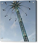 Winter Wonderland Star Flyer Acrylic Print