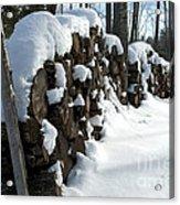 Winter Wood Supply Acrylic Print