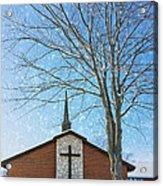 Winter Worship Acrylic Print by Bill Tiepelman