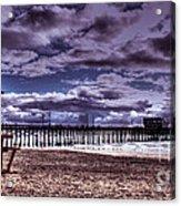 Winters Beach Solitude Acrylic Print