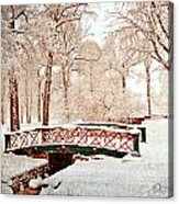 Winter's Bridge Acrylic Print