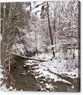 Winter's Country Stream Acrylic Print