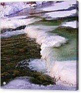 Winters Ice Acrylic Print