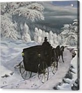 Winters Journey Acrylic Print