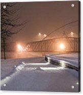 Winter's Night Stroll Acrylic Print