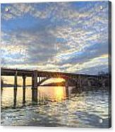 Winter's Sunset Acrylic Print